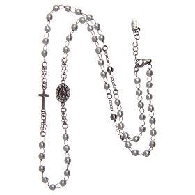 Collier chapelet tour du cou AMEN pavé perles arg 925 rhodié s3