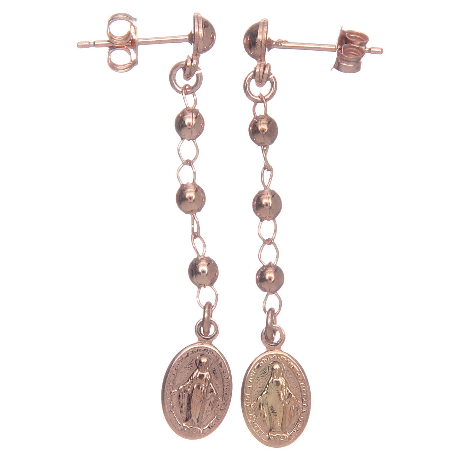 Orecchini rosario AMEN Miracolosa arg 925 Rosè 4