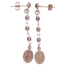 Orecchini rosario AMEN Miracolosa arg 925 Rosè s1