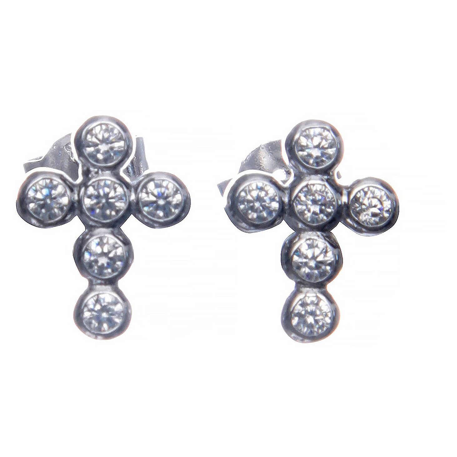 Earrings AMEN Boules zircons, Rhodium 4