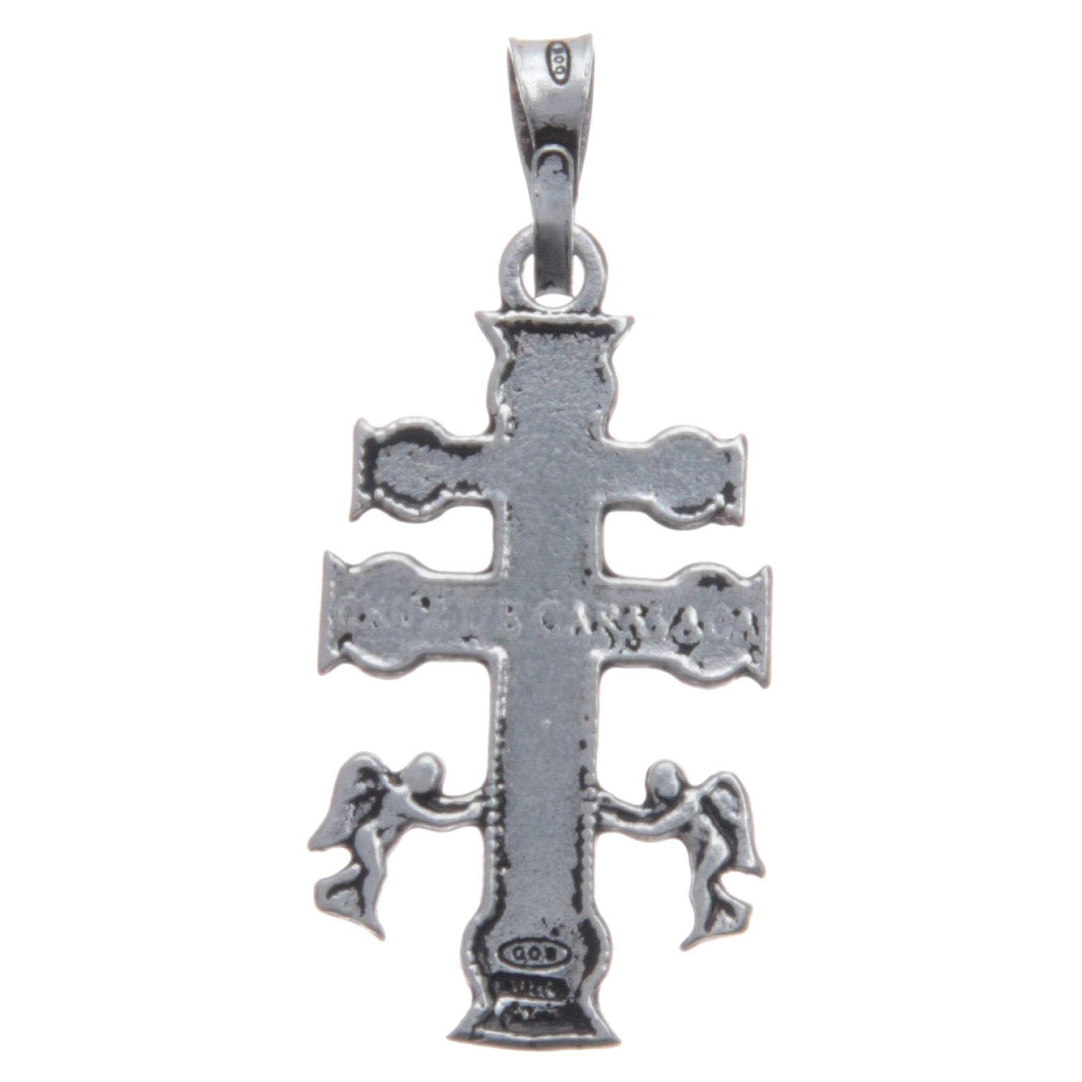Kreuz Brosche Silber 925 4