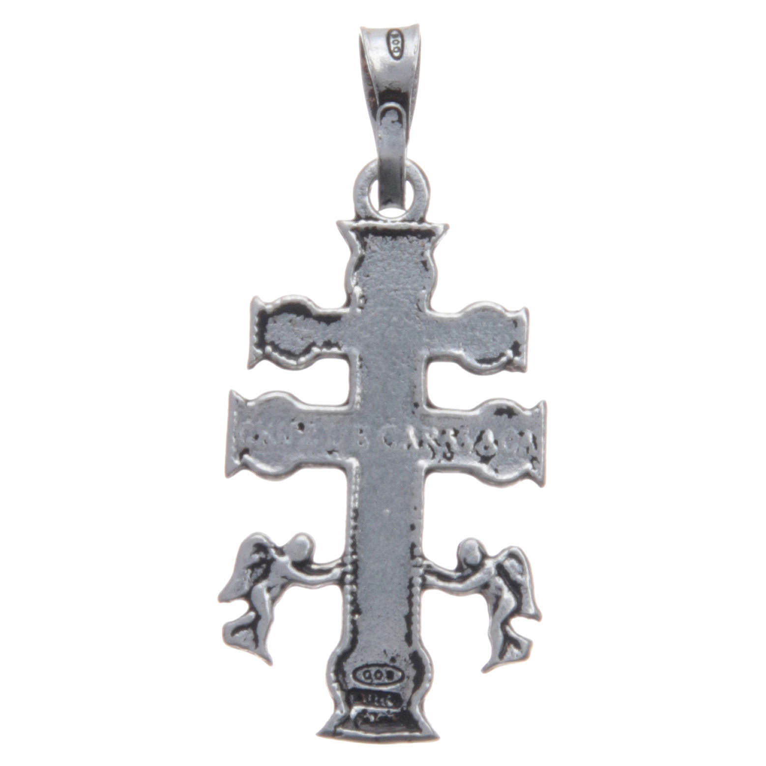 Pendant with Caravaca cross in 925 silver 4