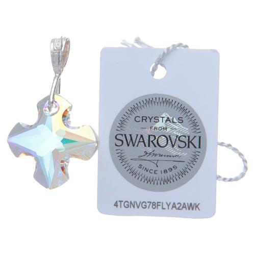 Croce cristallo Swarovski bianco e Argento 2x2 cm 2