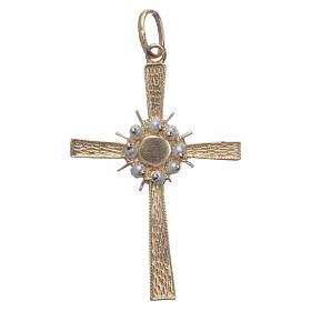 Croce dorata e raggiera Argento 800 s1