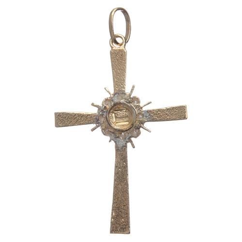 Croce dorata e raggiera Argento 800 2