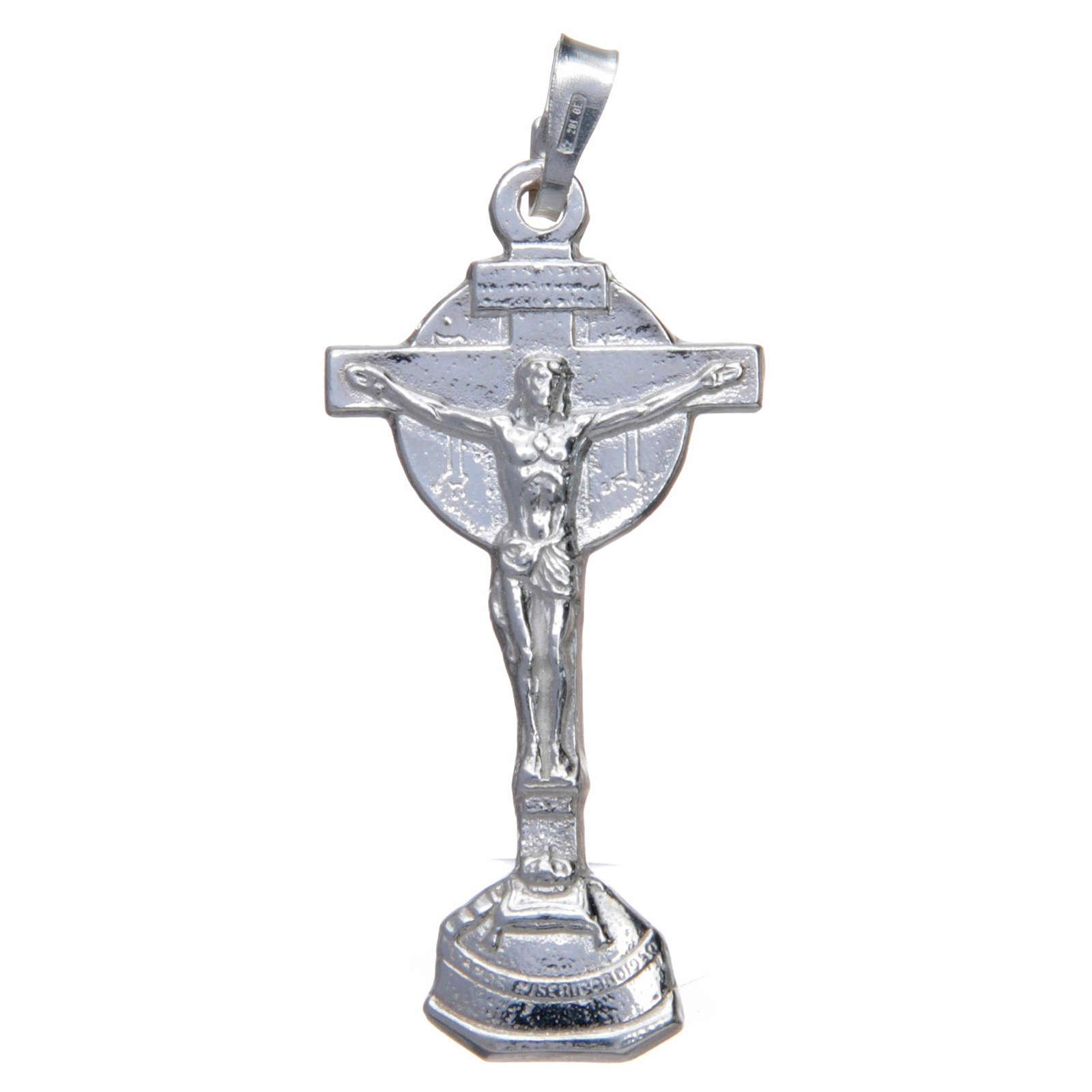 Ciondolo crocefisso Collevalenza Argento 800 4x2 cm 4