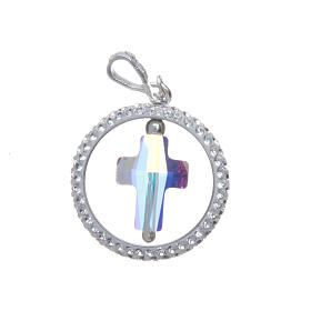 Pendente anello pavè e croce Swarovski Argento 925 s2