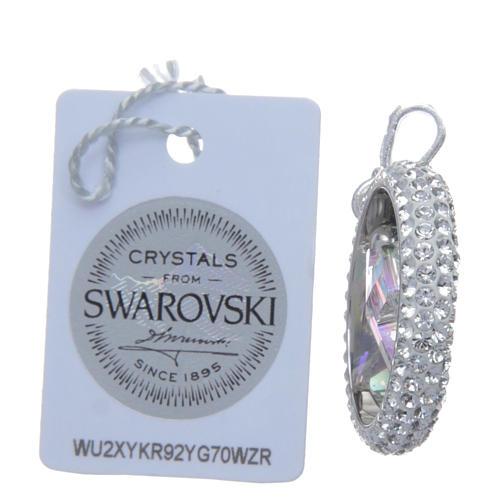 Pendente anello pavè e croce Swarovski Argento 925 3