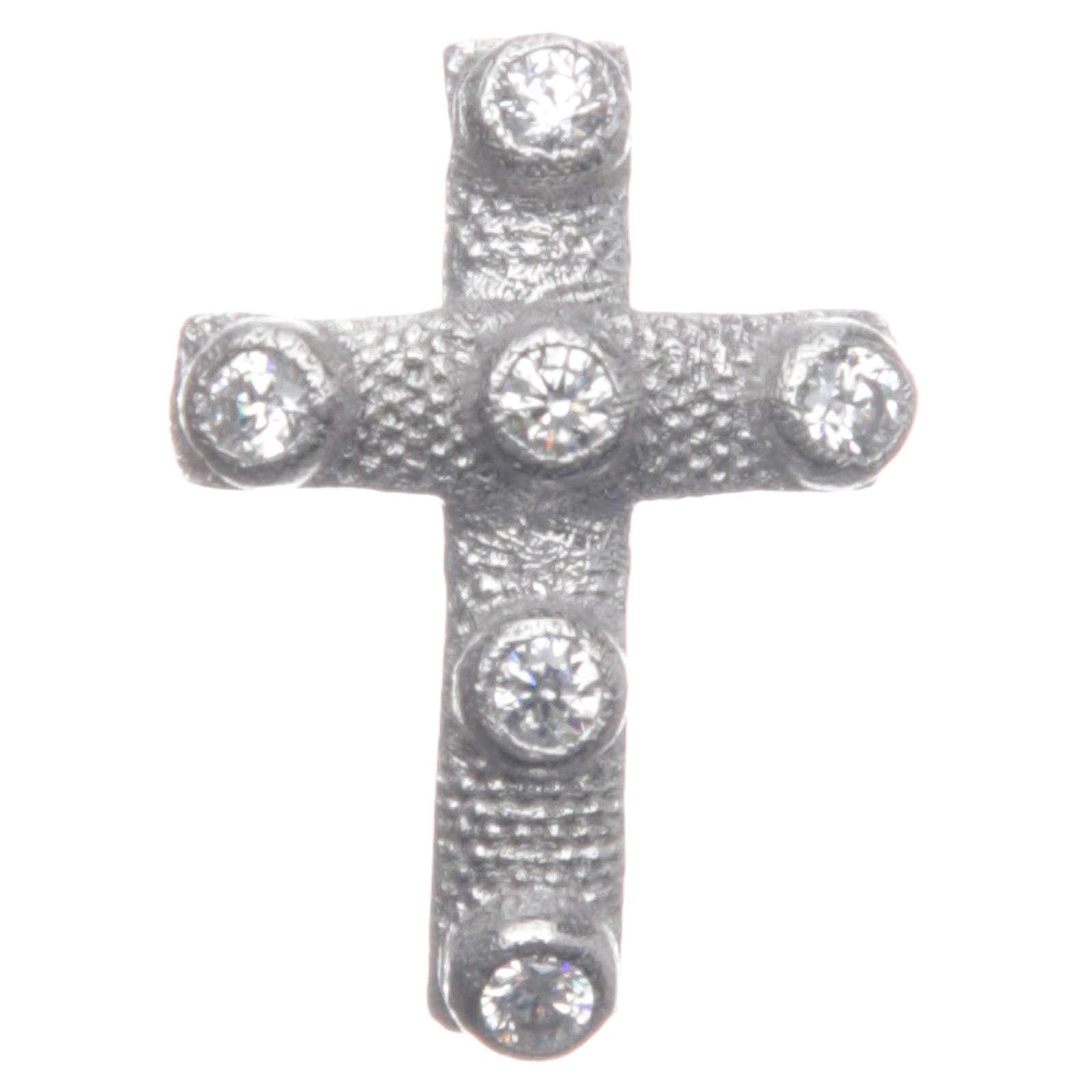 Croce pendente Argento 925 e zirconi bianchi 2x1,5 cm 4