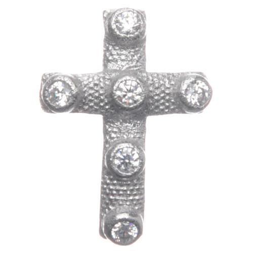 Croce pendente Argento 925 e zirconi bianchi 2x1,5 cm 1