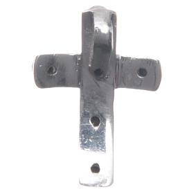 Croce Argento 925 e zirconi neri 2x1,5 cm s2