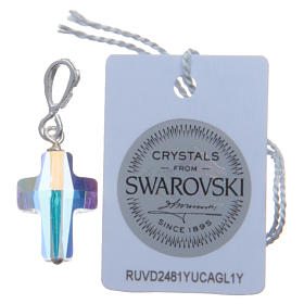 Croce pendente in cristallo Swarovski bianco e Arg. 800 cm 1,5x1 s2
