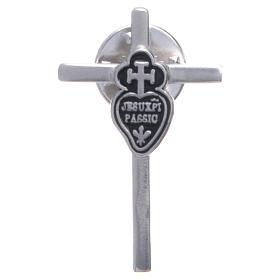 Broche croix emblème passioniste argent 925 s1