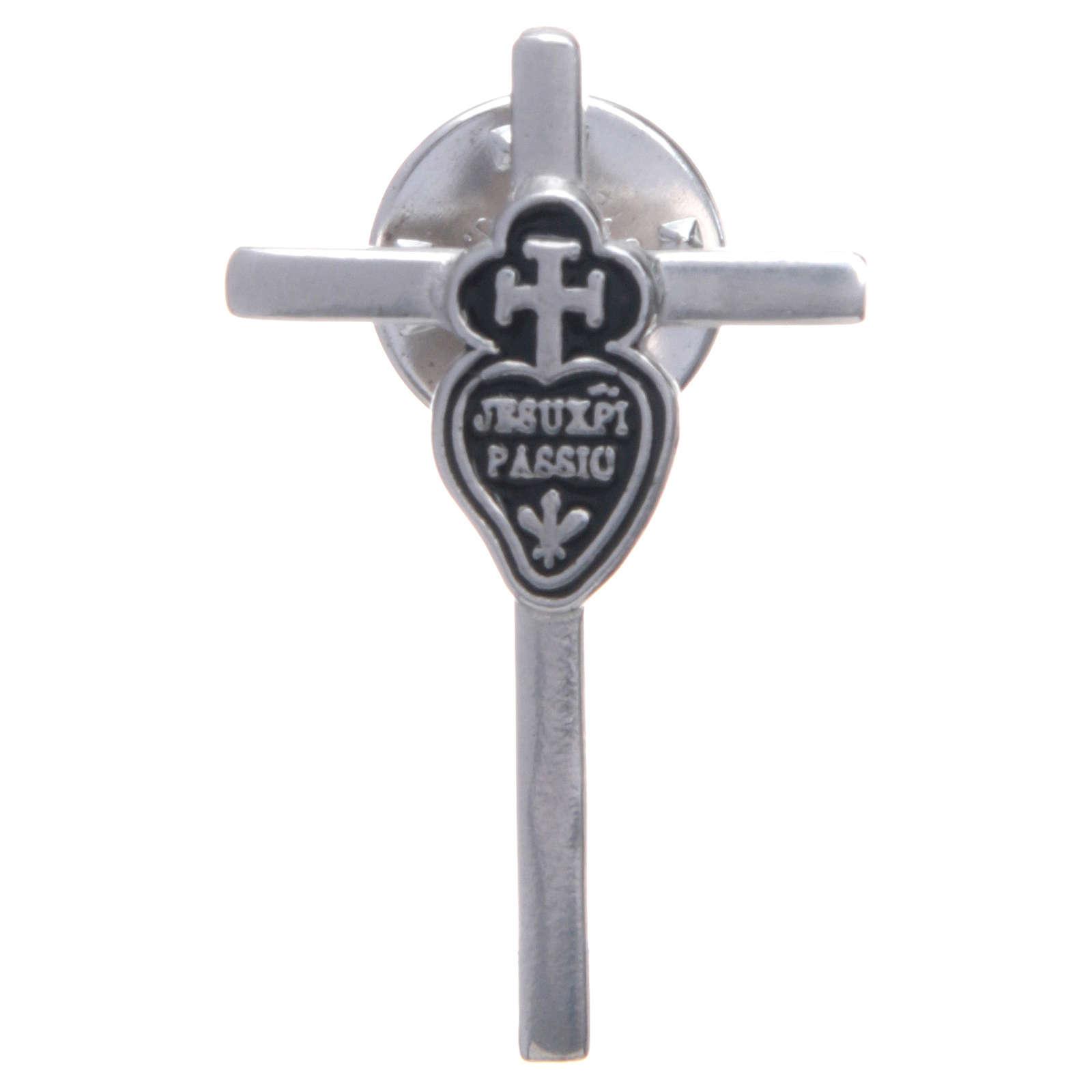 Broszka krzyż herb pasjonistów Srebro 925 4