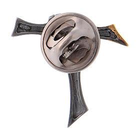 Spilla croce dell'amicizia Argento 925 s3