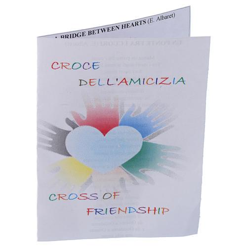 Spilla croce dell'amicizia Argento 800 4