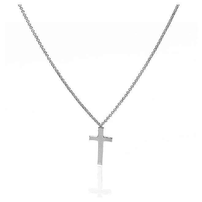 Necklace AMEN Cross silver 925 Rhodium finish 4