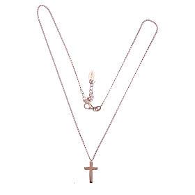 Collana AMEN Croce argento 925 fin. Rosè s2