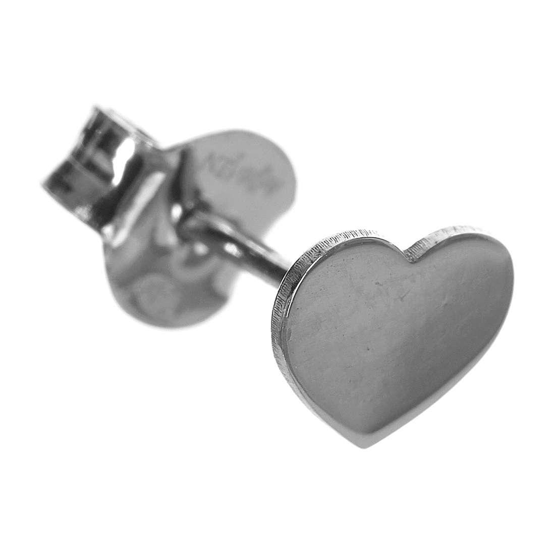 Ohrringe AMEN Herz rodinierten Silber 4