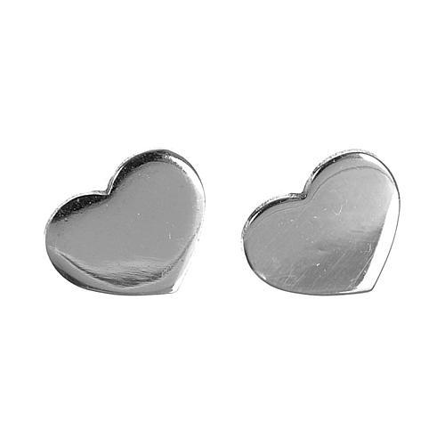Ohrringe AMEN Herz rodinierten Silber 1