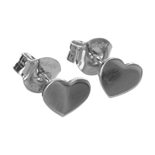 Ohrringe AMEN Herz rodinierten Silber 2