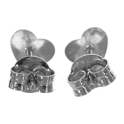 Ohrringe AMEN Herz rodinierten Silber 3