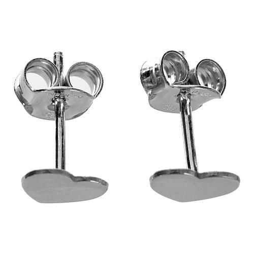 Ohrringe AMEN Herz rodinierten Silber 5