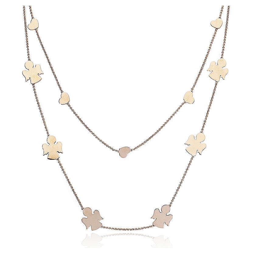 Necklace AMEN Angels & Hearts silver 925 Rosè finish 4