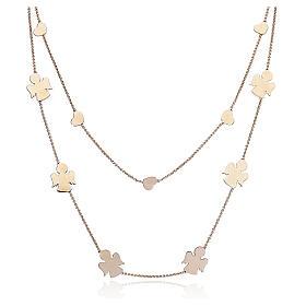 Necklace AMEN Angels & Hearts silver 925 Rosè finish s1