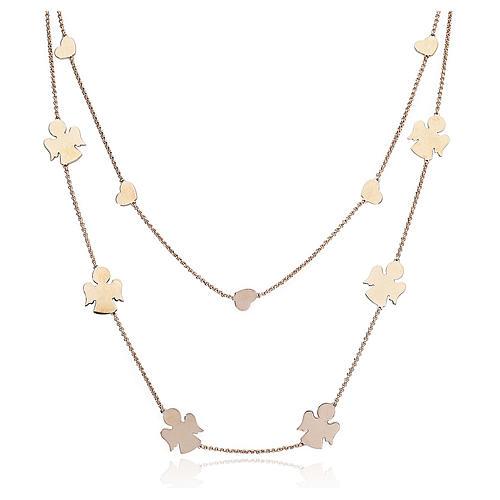 Necklace AMEN Angels & Hearts silver 925 Rosè finish 1