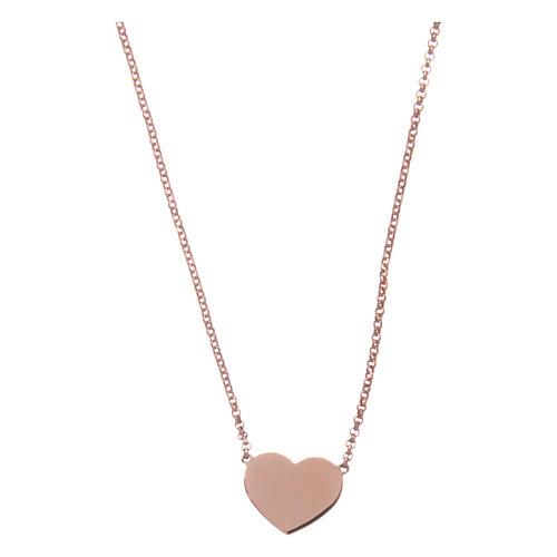 e8a2a2eba5df Collar AMEN Corazón plata 925 acabado rosado 1