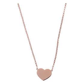 Pingentes, Cruzes, Broches, Correntes: Colar AMEN coração prata 925 acab. rosê