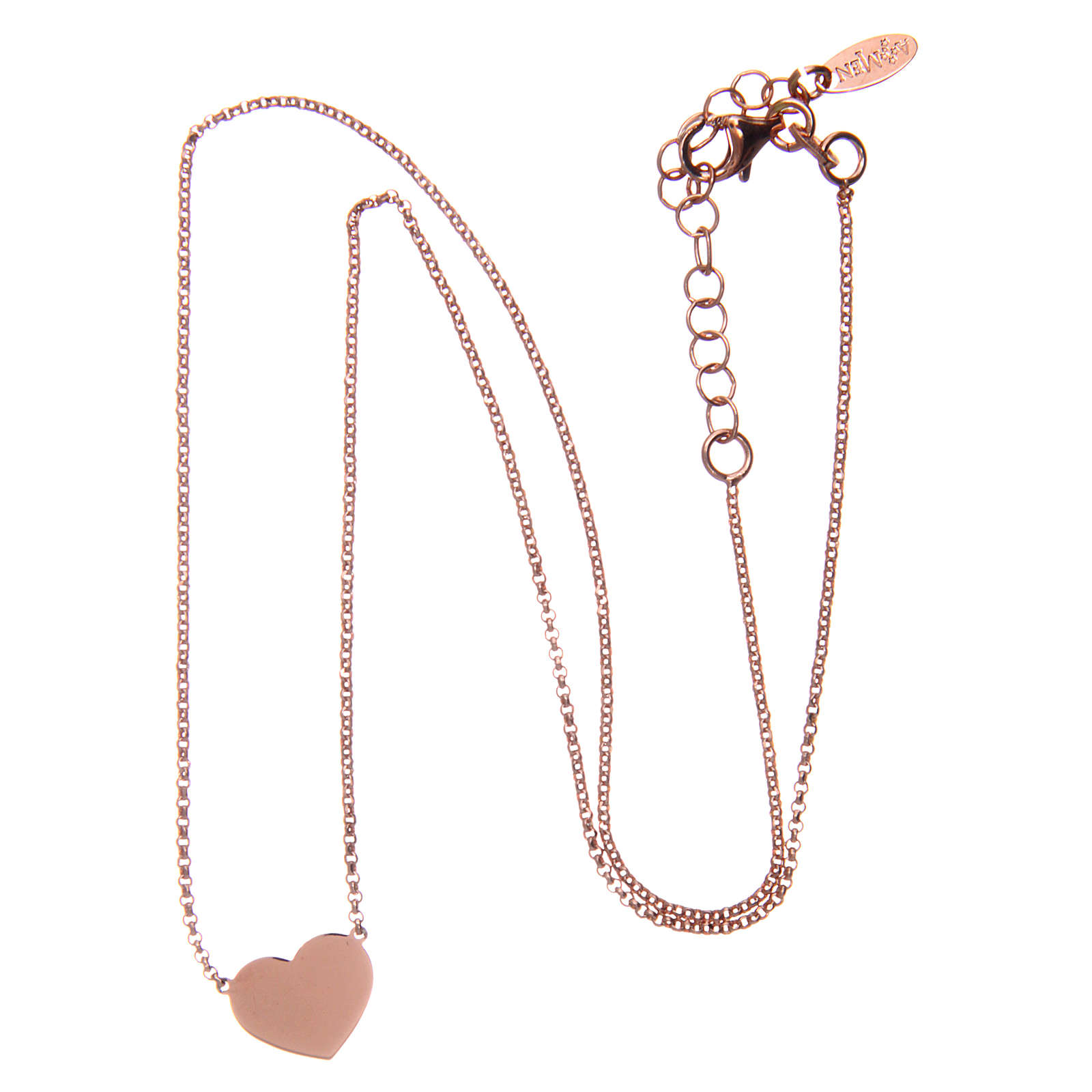 Necklace AMEN Heart silver 925 Rosè finish 4