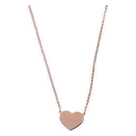 Necklace AMEN Heart silver 925 Rosè finish s1