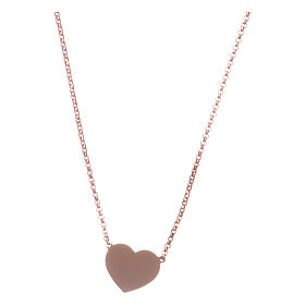Necklace AMEN Heart silver 925 Rosè finish s2