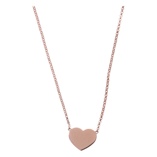 Necklace AMEN Heart silver 925 Rosè finish 1