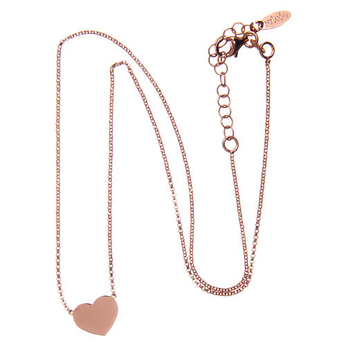 Necklace AMEN Heart silver 925 Rosè finish 3