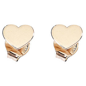 AMEN Earrings Heart silver 925 Rosè finish s1