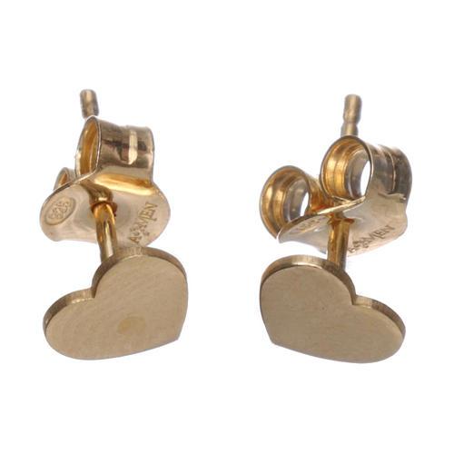 Ohrringe AMEN Herz rodinierten Silber 925 2