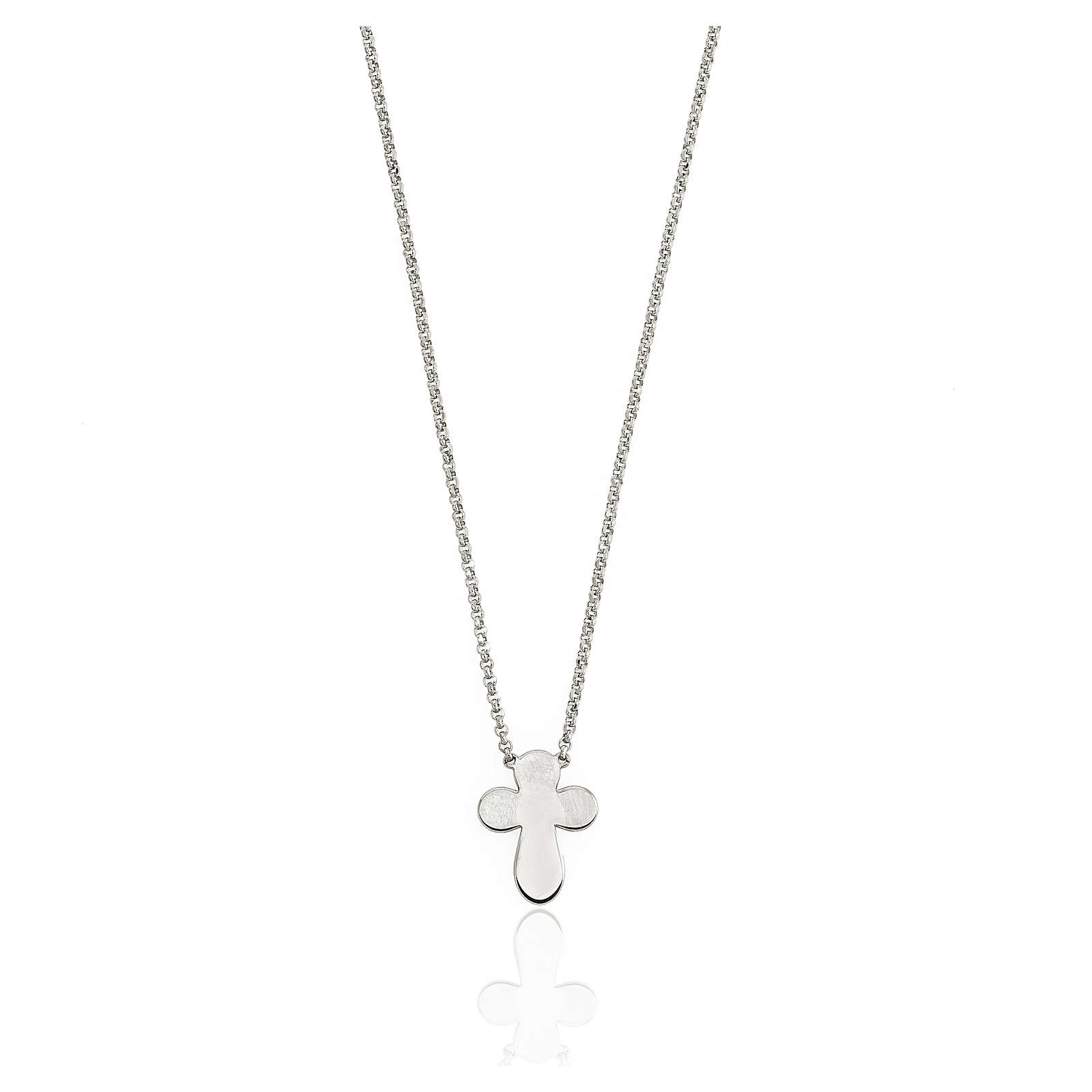 AMEN Necklace rounded Cross silver 925 Rhodium finish 4