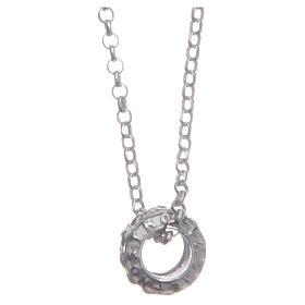 Ciondolo rosario bianco argento 925 s1