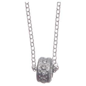 Ciondolo rosario bianco argento 925 s2