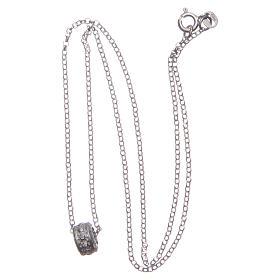 Ciondolo rosario bianco argento 925 s3