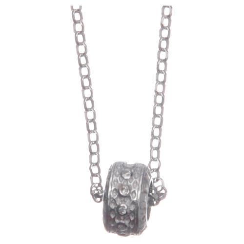 Ciondolo rosario bianco argento 925 2