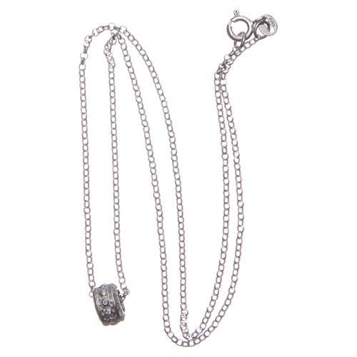 Ciondolo rosario bianco argento 925 3