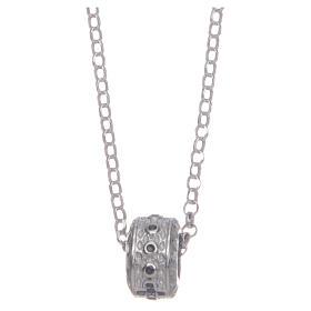 Ciondolo rosario nero argento 925 s2