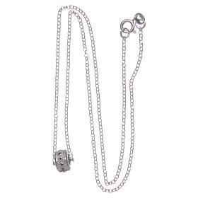 Ciondolo rosario nero argento 925 s3