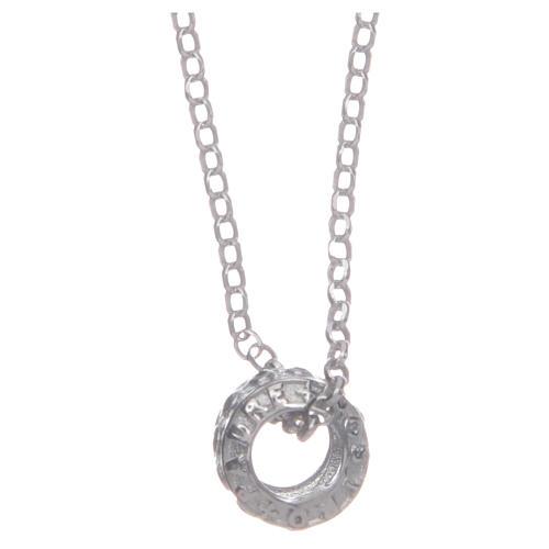 Ciondolo rosario nero argento 925 1