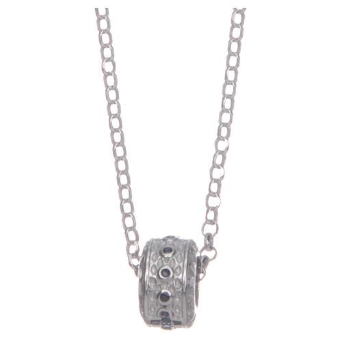Ciondolo rosario nero argento 925 2