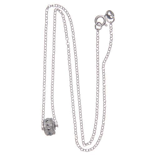 Ciondolo rosario nero argento 925 3